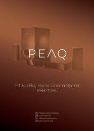 2.1 Blu-Ray Home Cinema System PBR210HC - PEAQ