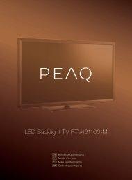 LED Backlight TV PTV461100-M - PEAQ