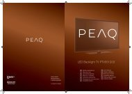 LED Backlight TV PTV551203 - PEAQ