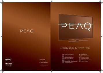 LED Backlight TV PTV551203 - PEAQ
