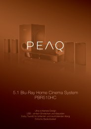 5.1 Blu-Ray Home Cinema System PBR510HC - PEAQ
