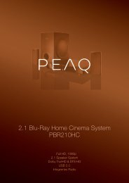 2.1 Blu-Ray Home Cinema System PBR210HC - PEAQ