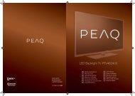 LED Backlight TV PTV462403 - PEAQ