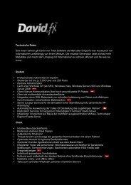 Technische Daten Seit vielen Jahren gilt David von Tobit.sof ...