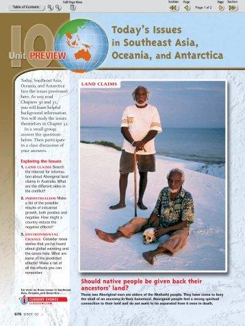 SE Asia, Oceania and Antarctica Preview