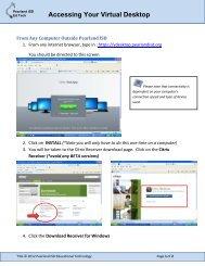 Accessing Your Virtual Desktop