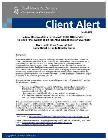 Federal Reserve Joins Forces with FDIC, OCC and OTS