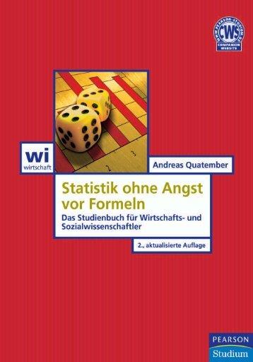 Statistik ohne Angst vor Formeln ... - Pearson Studium