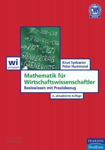 Mathematik für Wirtschaftswissenschaftler ... - Pearson Studium