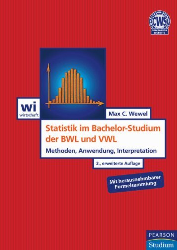 Statistik im Bachelor-Studium der BWL und VWL ... - Pearson Studium