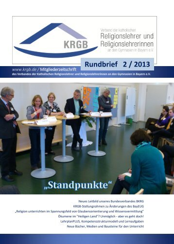 KRGB Rundbrief 2013 / 2