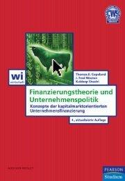 Finanzierungstheorie und Unternehmenspolitik ... - Pearson Studium