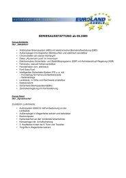 SERIENAUSSTATTUNG ab 06.2009 - Euroland Aubele