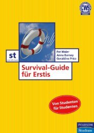 Survival-Guide für Erstis  - *ISBN ... - Pearson Studium