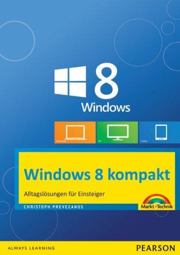 Windows 8 kompakt (Inhaltsverzeichnis)