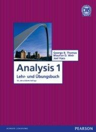 Analysis 1 (Inhaltsverzeichnis)