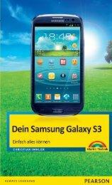 Dein Samsung Galaxy S3 (Inhaltsverzeichnis)