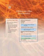 Websites and Online Documentation