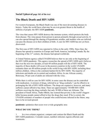 The Black Death (research paper)?