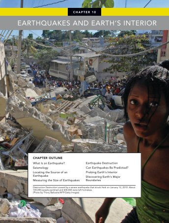 EARTHQUAKES AND EARTH'S INTERIOR - Pearson Canada