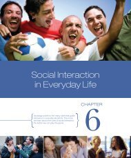 Chapter 6 - Social Interaction in Everyday Life - Pearson Canada