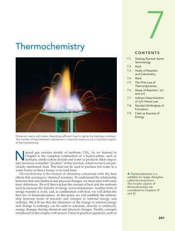 heat effects and calorimetry Calorimetry, or the study of heat since there is no direct heat meter, measurements of heat must rely on secondary effects such as temperature rises.