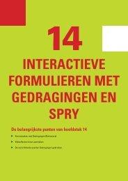 14 Interactieve formulieren met gedragingen en Spry