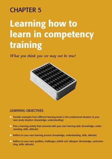 Learning how to learn in competency training - Pearson Education