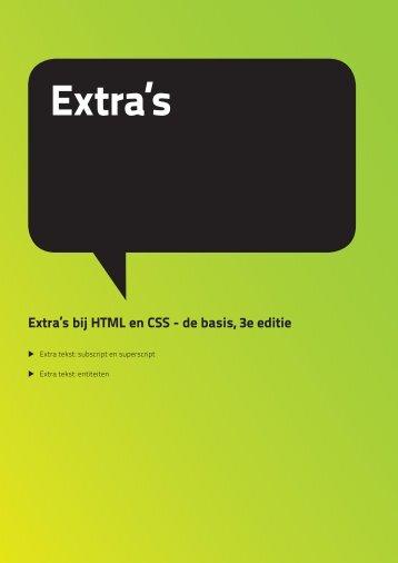 Extra's bij HTML en CSS - Pearson Education