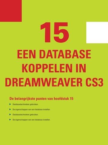 een dAtAbASe koppelen In dreAmweAver cS3