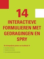 InterActIeve FormulIeren met gedrAgIngen en Spry