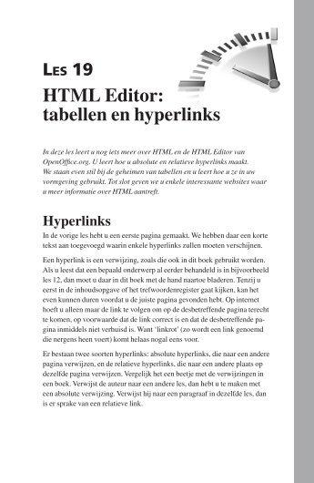 HTML Editor: tabellen en hyperlinks - Pearson Education