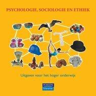 PSYCHOLOGIE, SOCIOLOGIE EN ETHIEK - Pearson Education