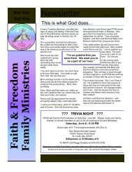 FFFM Issue 3 May 2009.pub - Faith and Freedom Family Ministries