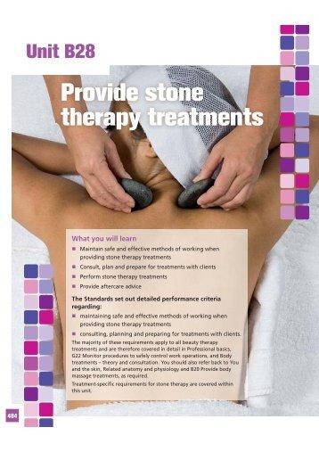 Provide stone therapy treatments - Pearson Schools