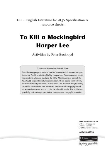 To Kill a Mockingbird - Pearson Schools