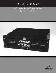 PV 1200 O/M-1 - Peavey.com