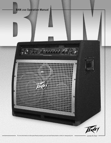 BAM 210 Operation Manual - Peavey.com