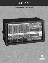 Stereo Powered Mixer - Peavey.com