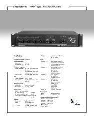 UMA 1502 SS - Peavey.com