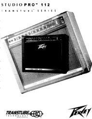 """TUDIO PRO"""" 112 - Peavey.com"""