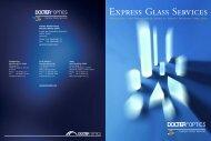 DOCTER OPTICS Express Glass Services – A ... - Docter® Optics