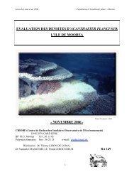 evaluation des densites d'acanthaster planci sur l'ile de moorea