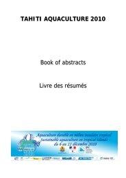 Développement de l'aquaculture à Saint-Pierre et - Secretariat of the ...