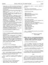 Arrêté n°392 PR du 17 mai 2013 relatif aux attributions du ministre ...