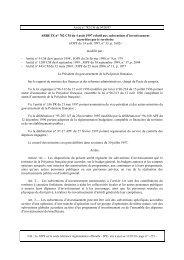 Arrêté n° 782/CM du 04/08/1997