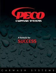 2009 Corporate Brochure - PECO Car Wash Systems