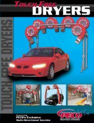 Touch Free Dryer Small - PECO Car Wash Systems