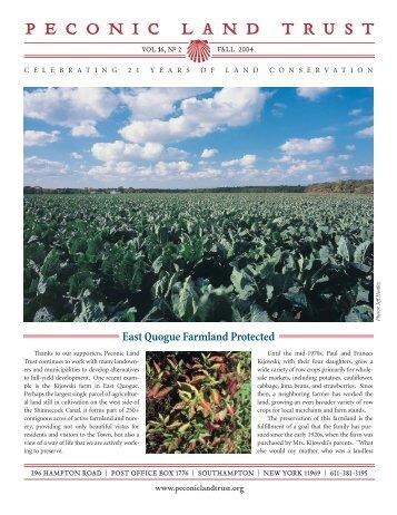 Fall 2004 (pdf) - Peconic Land Trust