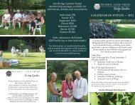 CALENDAR OF EVENTS — 2011 - Peconic Land Trust
